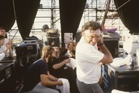 Grateful Dead: Brent Mydland, Jerry Garcia, Bob Weir, and Bill Graham