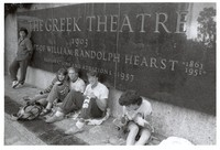 Deadheads waiting in line at the Greek Theatre in Berkeley, ca. 1988