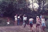 Bill Kreutzmann and Phil Lesh with unidentified Deadheads