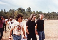 Mickey Hart, Jerry Garcia, and Bill Kreutzmann, ca. 1985