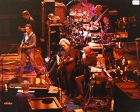 "Grateful Dead: Bruce Hornsby, Phil Lesh, Bob Weir, Jerry Garcia, Huey Lewis, Bill Kreutzmann, Mickey Hart, Vince Welnick performing ""Lovelight"""