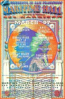 Maritime Hall, March 1997 - S.F. Rock & Roll Collectable Expo - Heiroglyphics, Camp Lo, Rasskass, The Bums, Mike T., Fantastic Four - Willy Nelson, Jimmie Dale Gilmore - Benefit for Doug Killmer - KRS-1, Earthlings - Waylon Jennings, Jessi Colter, J.C. Flyer - Etta James - Pablo Moses, The Meditations - The JGB Band, Puddle Junction