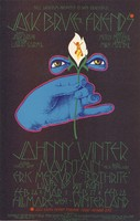 Jack Bruce & Friends, Johnny Winter, Mountain, Eric Mercury 'Birthrite' - Lights by Dry Paint - Bill Graham Presents in San Francisco - Fillmore West, February 26 and March 1 - Winterland, February 27-28, 1970