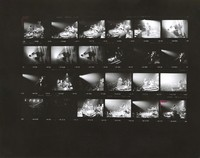 Grateful Dead during a three-day Dance Marathon, with Deadheads: contact sheet with 24 images