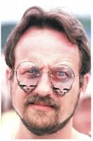Deadhead with skull-shaped eyeglasses