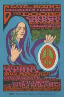 Doors, Chuck Berry, Salvation - Lights by Holy See - Dec. 26, 27, 28 - Chuck Berry, Big Brother and the Holding Co., Quicksilver Messenger Service - Lights by Glenn McKay's Headlights - Plus New Year's Jefferson Airplane, Big Brother and the Holding Company, Quicksilver Messenger Service, Freedom Highway - Bill Graham Presents in San Francisco - 6 Days of Sound Dec. 26-New Years Eve -