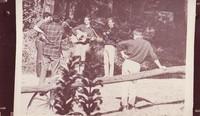 Black Mountain Boys (?): Jerry Garcia, Robert Hunter, Eric Thompson, David Nelson and an unidentified spectator (Sandy Rothman?)