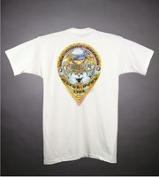 "T-shirt: ""Grateful Dead - Las Vegas - June 24, 25, 26"" - skeleton, dice, cactus. Back: ""Las Vegas, Nevada - Silver Bowl"""