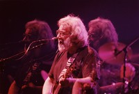 Jerry Garcia, in a triple exposure