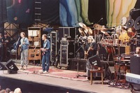 Grateful Dead, ca. 1988: Phil Lesh, Bob Weir, Jerry Garcia, Bill Kreutzmann, Mickey Hart (obscured) and Brent Mydland