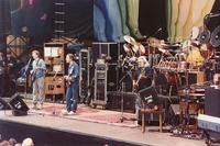 Grateful Dead, ca. 1988: Phil Lesh, Bob Weir, Jerry Garcia, Bill Kreutzmann, Mickey Hart (obscured) and Brent Mydland