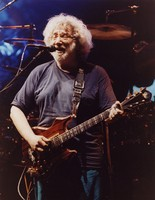 "Jerry Garcia performing ""He's Gone"" in the second set"
