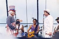 Ken Kesey and an unidentified performer, with Jorma Kaukonen, Bob Weir, and Michael Falzarano (?)