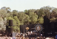 Grateful Dead at the Frost Amphitheatre: distant view of the stage