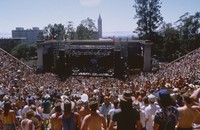 Grateful Dead at the Greek Theatre: Deadheads and distant view of the stage