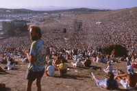 Grateful Dead, ca. 1989: distant view of the stage, and Deadheads
