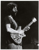 "Jerry Garcia, with the guitar ""Wolf"", ca. 1974"