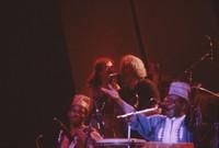 Carlos Santana, Jerry Garcia, Babatunde Olatunji and unidentified drummer