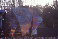 Grateful Dead at Seattle Center Memorial Stadium: stage construction panels
