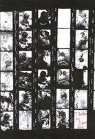 Grateful Dead at Lindley Meadows: photocopy of contact sheet with 27 images
