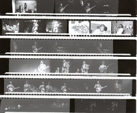 Jerry Garcia, Merl Saunders and other unidentified musicians, ca. 1974: contact sheet with 30 images