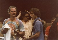 Grateful Dead: Bill Kreutzmann and Bob Weir with unidentified others