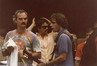 Grateful Dead: Bill Kreutzmann and Bob Weir with unidentified others