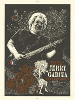Poster for Jerry Garcia memorial in Kyoto, October 8, 1995 - with letter