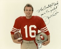 Joe Montana, ca. 1980s: publicity photo autographed for the Grateful Dead