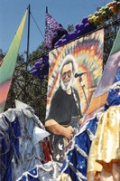 Memorial for Jerry Garcia: portrait of Jerry at the altar collection