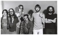 Grateful Dead publicity shoot at Club Front: Donna Godchaux, Keith Godchaux, Phil Lesh, Bill Kreutzmann, Bob Weir, Jerry Garcia