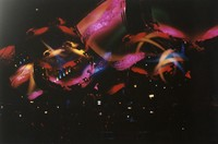 Grateful Dead concert light show: multiple exposure