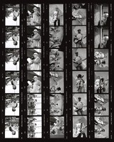 Acoustic Hot Tuna, Mystery Box, and Ken Kesey: contact sheet with 30 images