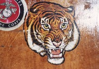 "Grateful Dead merchandise: Kelley and Mouse tiger head that was used as part of the artwork on the cover of the Robert Hunter album ""Tiger Rose"""
