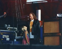 Vince Welnick with young girl off stage, ca. 1991