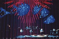 """Grateful Dead: band superimposed over colorful """"optical effects"""""""