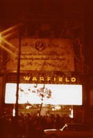 Grateful Dead banner on the Warfield Theater, ca. 1980
