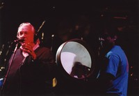 """Ken Nordine, with Mickey Hart, reciting either """"Flibberty Jib"""" or """"The Island"""" during """"Drumz"""""""