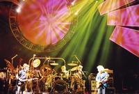 Grateful Dead: Bob Weir, Bill Kreutzmann (obscured), Mickey Hart and Jerry Garcia
