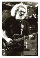 Jerry Garcia with the guitar Rosebud, ca. 1991