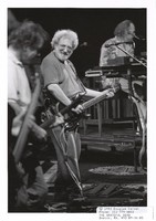 Grateful Dead: Jerry Garcia, with Bob Weir in the foreground and Vince Welnick in the background