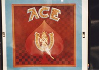"Grateful Dead merchandise: reproduction of the ""Ace"" album cover by Kelley/Mouse Studios, that was part of a display at an unknown location"