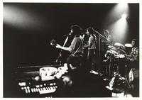 """Grateful Dead during a three-day Dance Marathon: Jerry Garcia, Bob Weir, Phil Lesh, Bill Kreutzmann, with Ron """"Pigpen"""" McKernan in the foreground"""