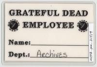Grateful Dead - Fall 1989 Winter - Access All Areas [laminate]