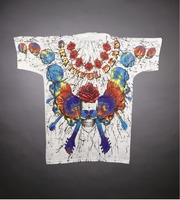"T-shirt: ""Grateful Dead"" - skulls, guitar necks, roses. Back: same as front"