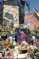 Memorial for Jerry Garcia: altar collection, portraits of Jerry