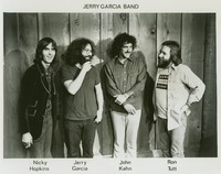 Jerry Garcia Band, ca. 1975: Nicky Hopkins, Jerry Garcia, John Kahn, Ron Tutt