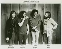 Jerry Garcia Band, ca. 1975: Nicky Hopkins, Jerry Garcia, John Kahn, Ron Tutt