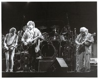 Grateful Dead and Bob Dylan: Bob Weir, Bill Kreutzmann, Bob Dylan, Mickey Hart and Jerry Garcia