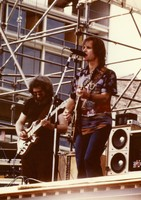 "Grateful Dead, 15th anniversary: Jerry Garcia and Bob Weir: photo by ""Katie"""
